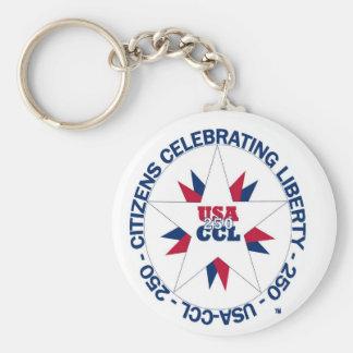 Amerikas 250. oder CCL Geburtstages im Jahre 2026 Schlüsselanhänger