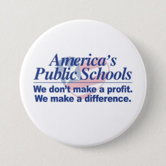 Amerikas allgemeine Schulen stellen einen Runder Button 7,6 Cm
