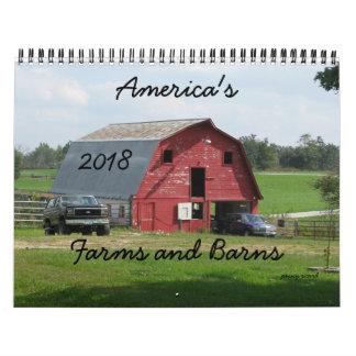 Amerikas Bauernhof-und Scheunen-Kalender 2018 Kalender