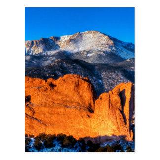 Amerikas Berg am Sonnenaufgang Postkarte