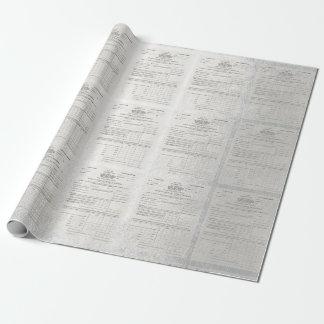 Amerikas erstes Einkommenssteuer-Papier-Silber Geschenkpapier