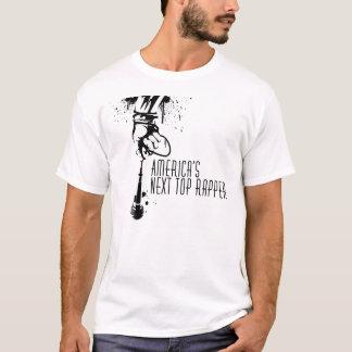 Amerikas folgender SpitzenRapper-schwarzes u. T-Shirt
