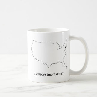 Amerikas Ironie Suppy Kaffeetasse