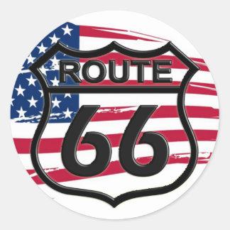Amerikas Route 66 Runder Aufkleber