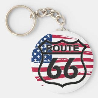 Amerikas Route 66 Schlüsselanhänger