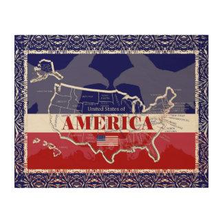 Amerikas Staats-Farbkahler Adler-hölzerne Wand Holzdruck