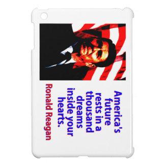 Amerikas zukünftige Erholungen - Ronald Reagan iPad Mini Hülle