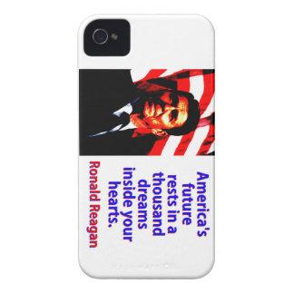 Amerikas zukünftige Erholungen - Ronald Reagan iPhone 4 Hüllen