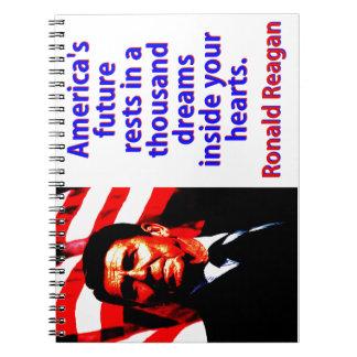 Amerikas zukünftige Erholungen - Ronald Reagan Spiral Notizblock