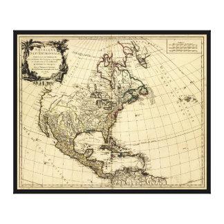 Amérique Septentrionale, Nordamerika-Karte (1758) Leinwanddruck