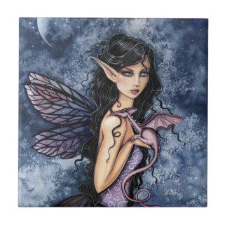 Amethyst Drache-lila feenhafte Fantasie-Kunst Fliese