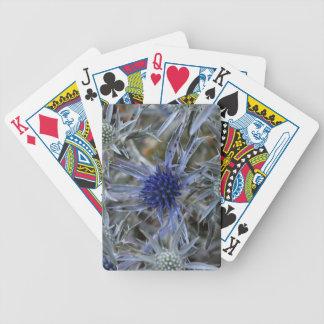 Amethyst Eryngo (Eryngium amethystinum) Bicycle Spielkarten