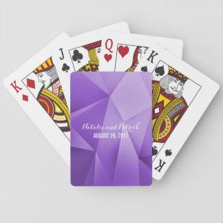 Amethyst Juwel tont Hochzeits-Spielkarten Kartendeck