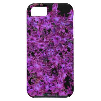 Amethyst lila abstraktes Hyazinthen-Schwarzes mit iPhone 5 Schutzhülle