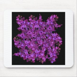Amethyst lila abstraktes Hyazinthen-Schwarzes mit Mousepad