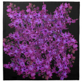 Amethyst lila abstraktes Hyazinthen-Schwarzes mit Stoffserviette