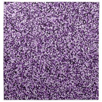 Amethyst lila Imitat-Glitter Serviette