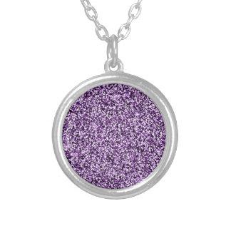 Amethyst lila Imitat-Glitter Versilberte Kette