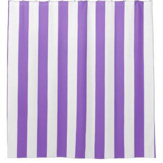 Amethyst lila weißer vertikaler Streifen NL #1 Duschvorhang