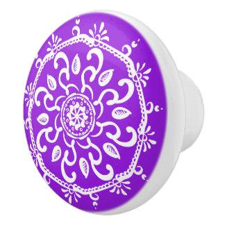 Amethyst Mandala Keramikknauf