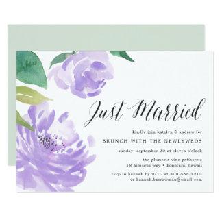 Amethyst Posten-Hochzeits-Brunch-Einladung der Karte