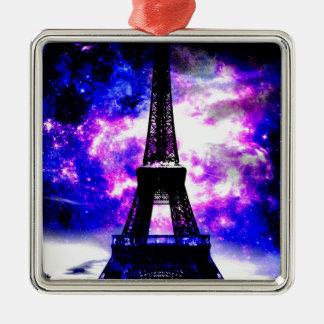 Amethyst Rosen-Pariser Träume Silbernes Ornament