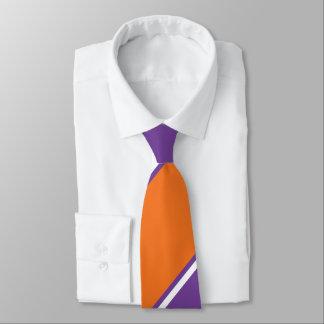 Amethyst und orange Zuckerc$diagonal-gestreifte Krawatte