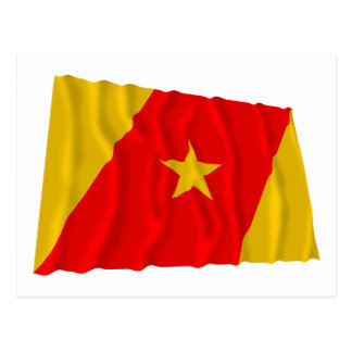 Amhara-wellenartig bewegende Flagge Postkarte