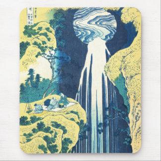 Amida fällt (Katsushika Hokusai 19. Jahrhundert) Mousepad