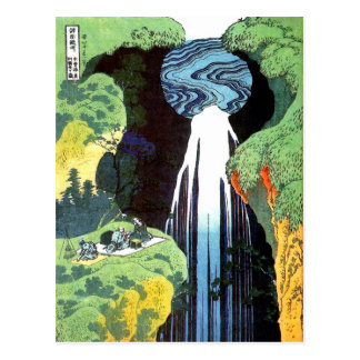 Amida Wasserfall Hokusai Japaner-schöne Kunst Postkarten
