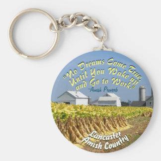 Amische-Arbeits-Sprichwort Keychain Schlüsselanhänger