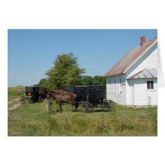 Amische Kirche und Pferde Karte