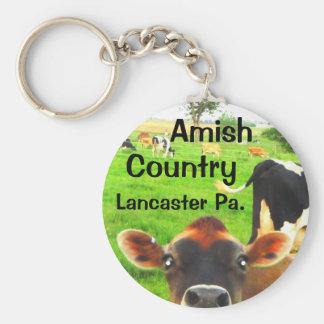 Amische Land-Kühe! Lancaster Schlüsselanhänger