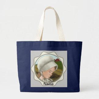 Amische Mädchen-Mütze Jumbo Stoffbeutel