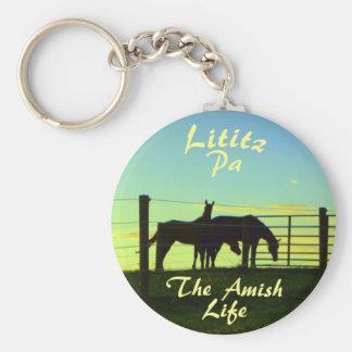 Amisches Leben, Lititz Pferde Ketchain Schlüsselanhänger