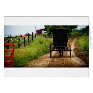 Amisches Pferd und Buggy Karte