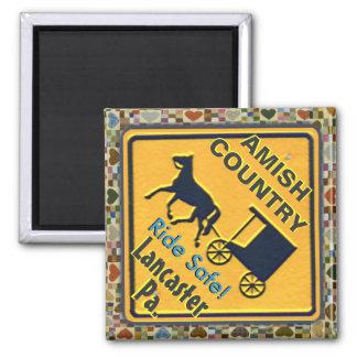 Amisches Pferde-u. Buggy-Fahrsafe, Magnet! Quadratischer Magnet