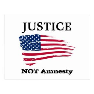 Amnestie der Gerechtigkeit nicht Postkarte
