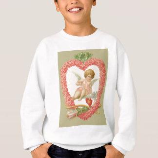 Amor-Bogen-Pfeil-Gänseblümchen vierblättriges Sweatshirt