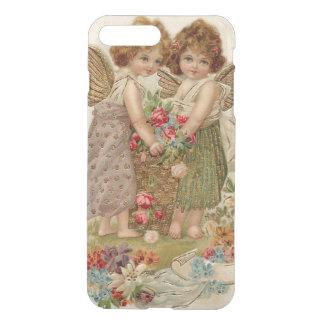 Amor-Engel-Engels-Rosen-Vergissmeinnicht iPhone 8 Plus/7 Plus Hülle