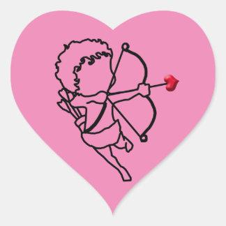 Amor - genommen Herz-Aufkleber