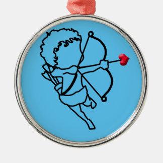 Amor - genommen silbernes ornament