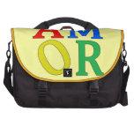 AMOR in den hellen Farben Laptop Taschen