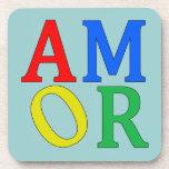 AMOR in den hellen Farben Untersetzer