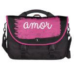 Amor mit einem Schlag des Rosas Laptoptasche