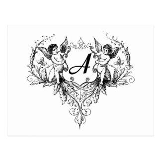 Amor-Monogramm eine Sammlung Postkarte