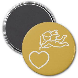 Amor schlägt kundenspezifischen Magneten Runder Magnet 7,6 Cm