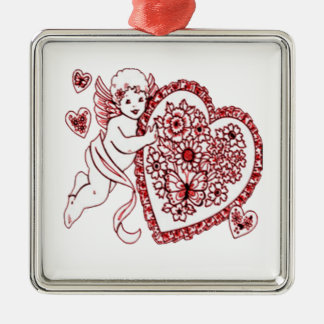 Amor Silbernes Ornament