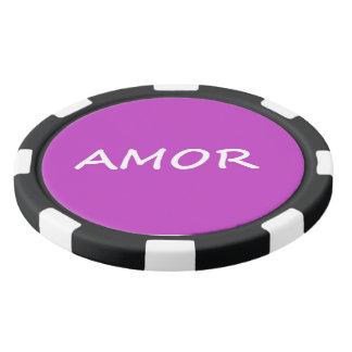 Amor, spanische Liebe Pokerchips