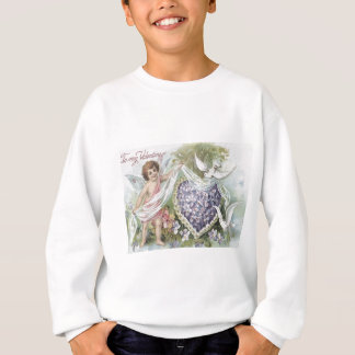 Amor-Tauben-Vergissmeinnicht-Gänseblümchen Sweatshirt